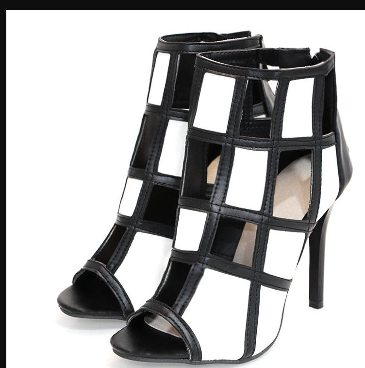 Image of The new combination of high - heeled and thin - heeled sandals  SHOES