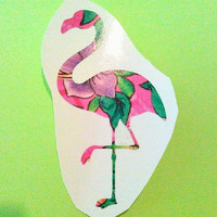 Flamingo Decal, Pink Flamingo, Binder Sticker, Decal Yeti Cup, Decals for women