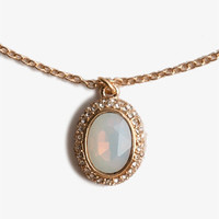 Opaque Oval Necklace
