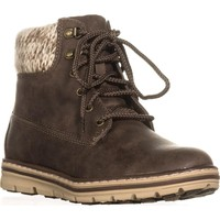 Cliffs by White Mountain Kansas Lace Up Ankle Boots, Stone, 5.5 US