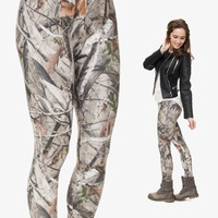 Mix City Camo Trees 3d Printing Leggings for Women Adventure Time Double Side Brushed Milk Silk Mujer Casual Stretch Gym Legging