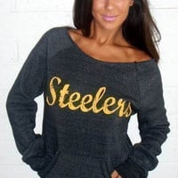 Dark Grey STEELERS Sweatshirt
