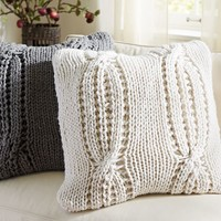 pottery barn cable knit pillow cover - Google Search