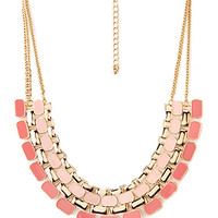 FOREVER 21 Street-Chic Lacquered Bib Necklace