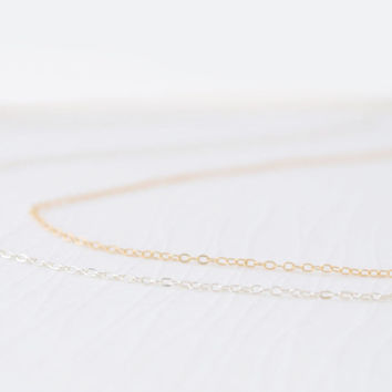 Plain Chain - Gold, Rose Gold or Silver