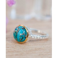 Julie Ring * Copper Turquoise * Sterling Silver 925 * BJR079