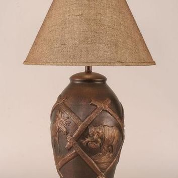 High Country Moose and Bear Table Lamp