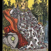 Mature Religion The Empress Occult Divination Rider Major Arcana Tarot Card Giclée Printed Art Sew on 8 x 10in Twill Back Patch Free S/H MBG