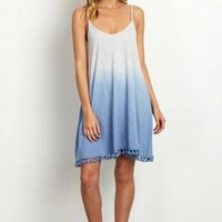 Ombre Dip Dye Shift Dress - FINAL SALE!