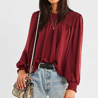 UO Rosie Smocked Tie Blouse | Urban Outfitters