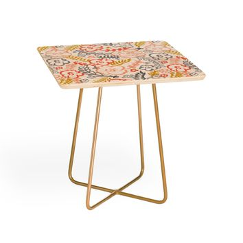 Heather Dutton Floral Brush Side Table
