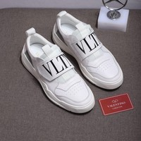 Valentino Men Fashion Boots  fashionable casual leather  Breathable Sneakers Running Shoes Sneaker