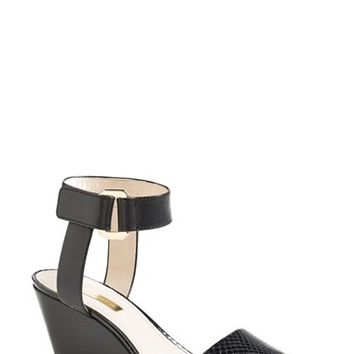"""Women's Louise et Cie 'Phiona' Leather Ankle Strap Wedge Sandal, 2 1/2"""" heel"""