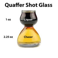 Glass Quaffer Shot Glass - Shot with a Chaser (Set of 4)