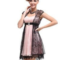 Ever Pretty Padded Sweetheart Neck Rhinestones Cocktail Casual Summer Dress Size 03522
