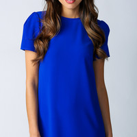 (buy early) Game On Shift Dress in Electric Blue - Popcherry