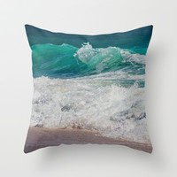 WAVE BEAUTY Throw Pillow by Catspaws