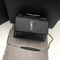 ysl women leather shoulder bags satchel tote bag handbag shopping leather tote crossbody satchel shouder bag 10