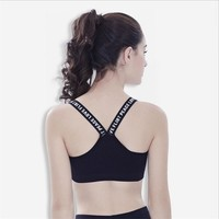 Female Yoga Top Fitness Yoga Shirts Women Padded Shockproof Sports Bras Breathable Athletic Fitness Running Vest Tops Underwear