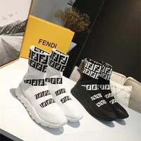 Fendi FF Knit Sneakers