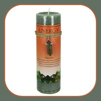 """"""" Energy"""" Pillar Candle with Unkite  Pendant Necklace"""