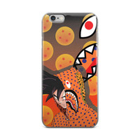 Dragon Ball Z x Bape Gangsta Goku In The Hood Hipster Dragon Balls DBZ Orange iPhone 4 4s 5 5s 5C 6 6s 6 Plus 6s Plus 7 & 7 Plus Case