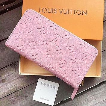 LV Louis Vuitton Women Fashion New Monogram Leather Wallet