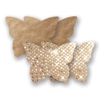 Bristols Six | Nippies Nipple Cover Pasties Concealers Adhesive Waterproof Gold Butterfly