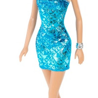 Barbie Glitz Doll, Blue Dress