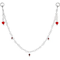 Handcrafted Never Enough Love Heart Nipple Chain   Body Candy Body Jewelry