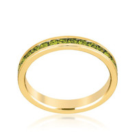 Stylish Stackables Olive Gold Ring, size : 08