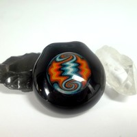 Hollow Reversal Pendant in Fire and Ice by Ed DuBick.
