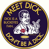 NCAA MICHIGAN WOLVERINES FANS. DON'T BE A DICK. (ANTI-BUCKEYES) EMBOSSED METAL FAN CAVE SIGN