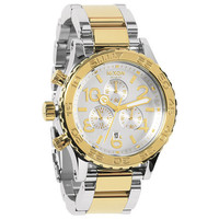 Nixon The 42-20 Chrono Watch Silver/Champagne Gold One Size For Men 22194691401