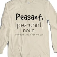 Peasants-Unisex Natural T-Shirt