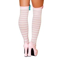 Peach Stripe Stockings