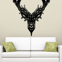 Vinyl Wall Decal Sticker Deer Head Design #5315