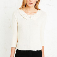 Cooperative Broderie Collar Jumper - Urban Outfitters
