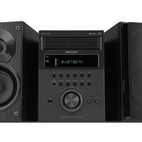 Sharp 5-CD Micro Shelf Speaker System with Bluetooth, USB, AM/FM Radio
