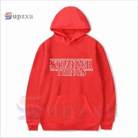 2018 Trendy Faces Stranger Things Hooded womens Hoodies and Sweatshirts Oversized for Autumn with Hip Hop Winter Hoodies Brand