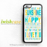 You Are My Sunshine Quotes iPhone 6 Case iPhone 6 Plus Case Cover