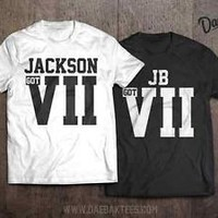 GOT7 t-shirt Jackson Mark BamBam JB Jr. Youngjae Yugyeom Kpop Apparel GOT 7 VII