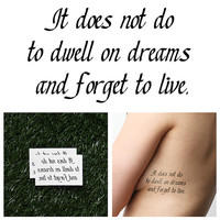 Harry Potter - Don't Forget to Live - Temporary Tattoo (Set of 2)