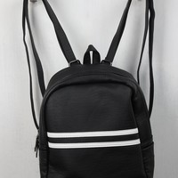 Double Striped Mini Backpack