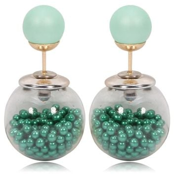 Gum Tee Tribal Earrings - Caviar Collection Green