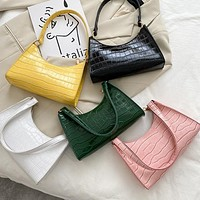 Fashion Exquisite Shopping Bag Retro Casual Women Totes Shoulder Bags Female Leather Solid Color Chain Handbag for Women