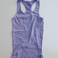 Under Armour Heat Gear Violet Stripe 'Charm' Seamless Long Tank Top XS
