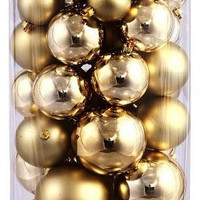 100 Pack of 80MM Plastic Gold Balls
