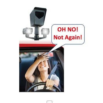 Anti Photo Camera Blocker Automobile and Motorcycle Clear or Tinted/Smoke License Plate Cover or Cover with Metal Frame (Black or Chrome) Combo Set.