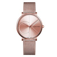 Calvin Klein Woman Men Fashion Quartz Movement Wristwatch Watch